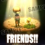 UNDERTALEのアレンジCD「FRIENDS!!」のジャケットイラストを公開しました。